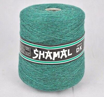 Shamal Forsell DK Double Knit Knitting Machine Cone Yarn Wool ~500g Fjord Green
