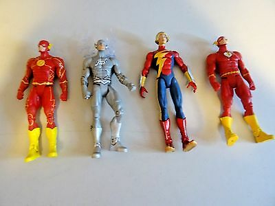 LOT OF 4 DC Collectibles The Flash Chain Silver JAY Lightning Action Figure #41