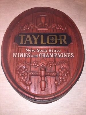 Taylor California NEW YORK STAT WINE AND CHAMPAGNE Sign