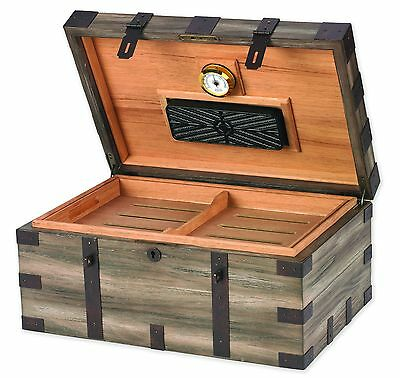 RENAISSANCE Cigar HUMIDOR with Hygrometer and Humidifier - Fits 120 Cigars