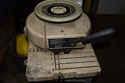 """Marsh Stencil Machine Model R  1"""" Character Hand Operated Owners Manual Works"""