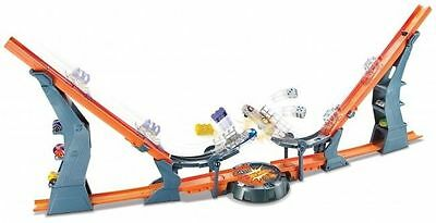 HotWheels Versus Track Set, With  Two Hot Wheels Cars