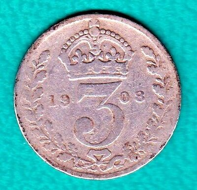 Silver Great Britain 1908 Silver 3 Pence