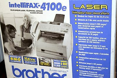 Brother IntelliFax 4100e Fax Machine - Used With Toner and all Cables