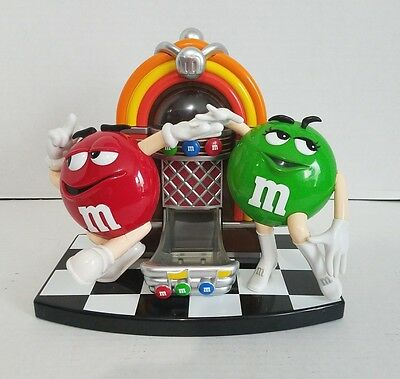 M&M's Red And Green Jukebox Candy Dispenser Display
