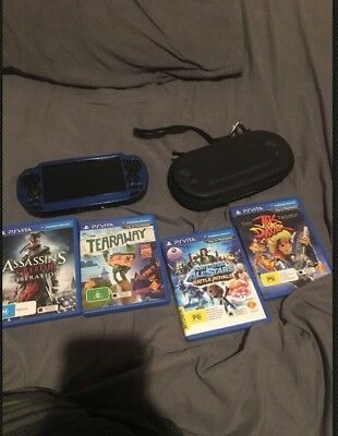 Ps vita +games Case And Charger