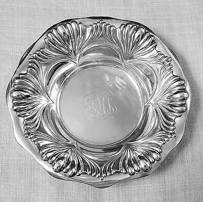 Gorham bonbon dish bowl in pattern A2700 scalloped decoration in sterling silver