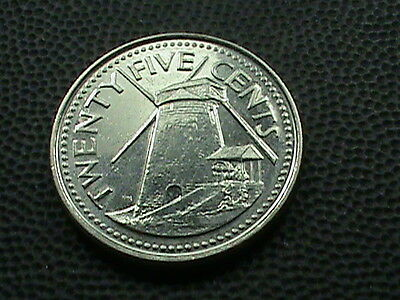 BARBADOS    25  Cents    2008    UNCIRCULATED   ,   LIGHTHOUSE