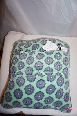 NWT Vera Bradley Fleece Travel Blanket Pillow NOMADIC BLOSSOMS