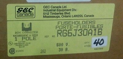 Gec Canada Rg6J30A1B Fuse Holder Lot Of 40