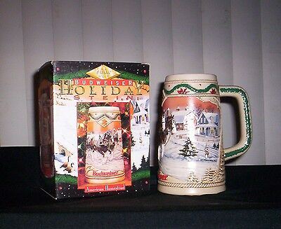 Budweiser Holiday Beer Stein 1996 New In Box