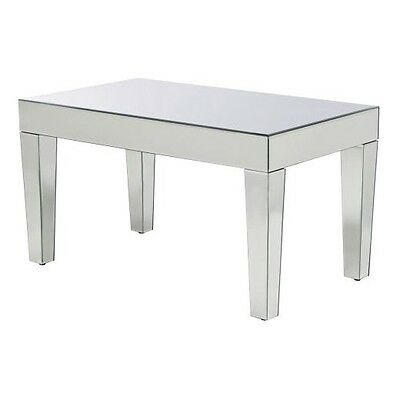 Mirrored Coffee Table New Chic Design Tapered Legs Le Sy Glamorous Flair