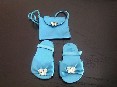 American Girl Doll Clothes Butterfly Brocade Dress outfit - PURSE & SANDALS ONLY