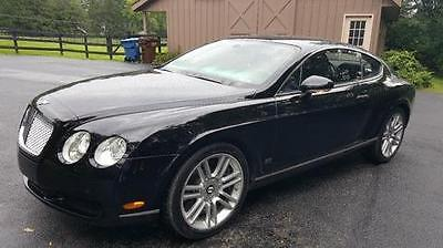 2007 Bentley Continental GT Breitling 552 HP Turbo W-12 with AWD, Black on Black, Navigation, Brushed Metal Interior