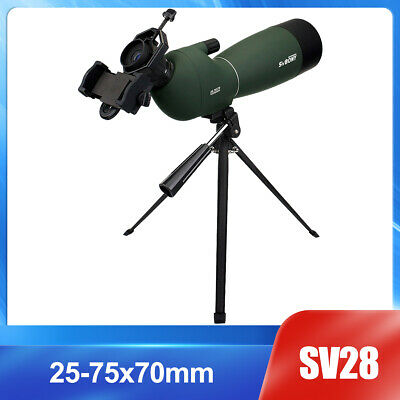 SVBONY SV28 25-75x70mm Angled Zoom Spotting Scopes+Tripod+Phone Adapter AU Local