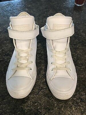 Converse All Star Leather White High Top Size 7 US Womens