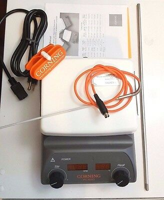 Corning PC-420D KIT NEW w/ Accessories Hot Plate Magnetic Stirrer 6795-420KIT