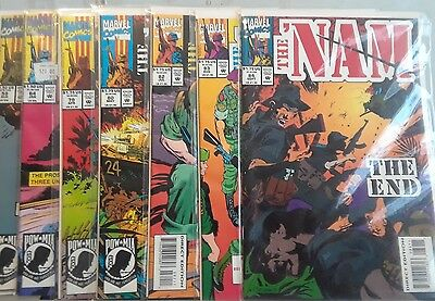 The Nam LOT of books issues 59,64,79,80,82,83,84, Marvel comics FN 6.0 condition