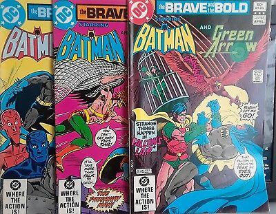 The Brave and the Bold Batman 186,187,188 lot of 3 books DC comics