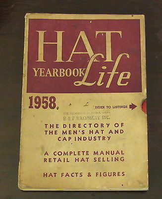Hat Life Yearbook 1958  TRADE PUBLICATION Hatter Millinery CAP FASHION