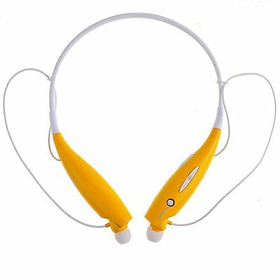 Bluetooth Wireless Headset Stereo Headphone Earphone Sport Universal YELLOW