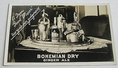 Early Advertising Postcard, Bohemian Dry Ginger Ale, Oakland, Calif.