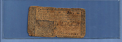 1763 15 Shillings Woodbridge New Jersey Colonial Currency Very Fine Grade