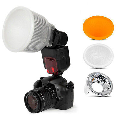 New Universal Cloud Lambency Flash Diffuser Reflector with White Dome Cover Set