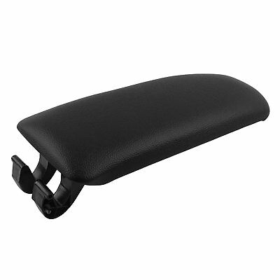 HOT Plastic Center Console Leather Armrest Black Cover For Audi 02-07 A4 B6 B7@
