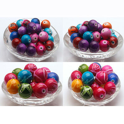 Wholesale  Mixed  Loose Charm  Round  Beads Jewelry Components 8-12-14-16-18-20m
