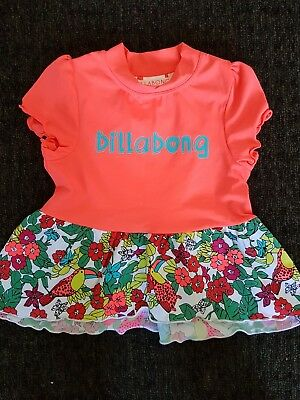 Girls Size 4 Bilabong Short Sleeve Rashie/Swim Shirt