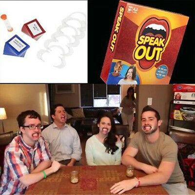 Speak Out Board Game Mouthguard Challenge Game For XMAS Birthday Party Toys Gift