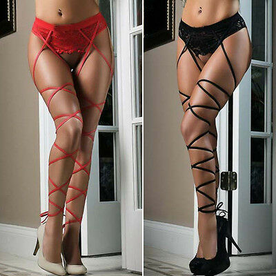 Women Sexy Hot Lace Top Thigh-Highs Stockings Socks + Suspender Garter Belt New