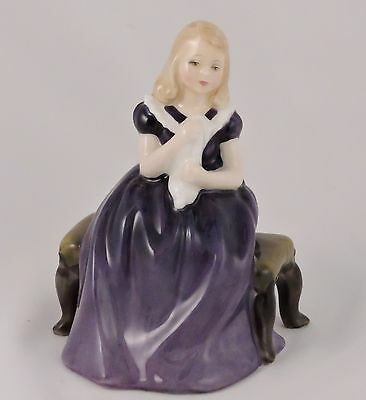 Royal Doulton Affection HN2236 Figurine Bone China RD. Nos. Girl Purple Dress