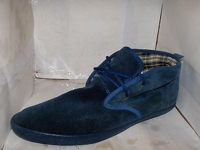 Fred Perry Mens Blue Suede Chukka Ankle Boots Byron Model Size 10/43 M