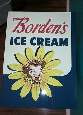 Borden Dairy Elsie the cow Ice cream Milk sign advertising 12 x 15 in 50029