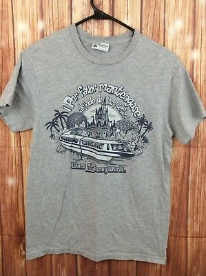 Vintage Disney Parks Authentic Work T-Shirt in Spanish Size Small
