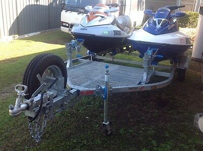 Jetski x 2 off With Dual Trailer - Both 3 Seaters