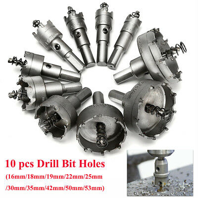 16-50mm Carbide Steel Tip Tipped Drill Bit Metal Wood Alloy Cutter Hole Saw Kit