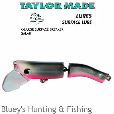 Taylor Made X-Large Cod Barra surface breaker articulated Lure;col GALAH