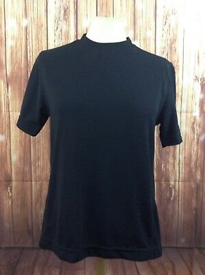 Vintage Apple Women's 100% Nylon Black Shirt Size XS Collectible