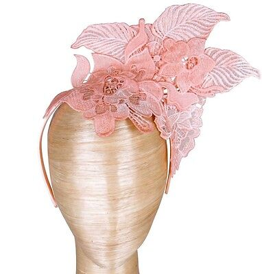 Morgan And Taylor Pink Blush Lace Fascinator Races Wedding Melbourne Cup