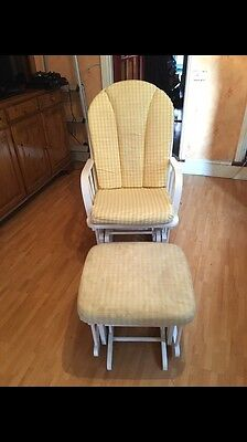 Nursing chair with foot stool John Lewis