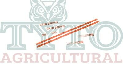 David Brown Tractor 885 (1972-74) Decal kit Excellent Quality