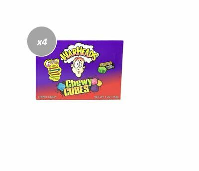 910411 12 x 113g BOXES OF WARHEADS SOUR JELLY BEANS SOUR SHELL & SWEET CENTRE!