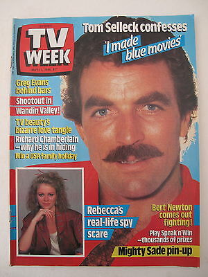 Tv Week May 17, 1986 Tom Selleck Magnum P.i. Cover Nsw Magazine