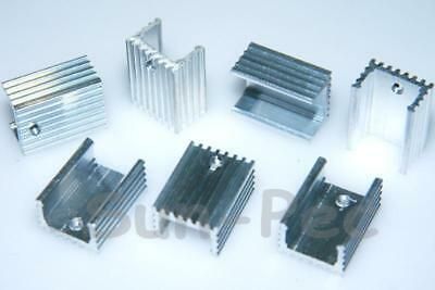 Aluminum Heat Sink Heatsink TO-220 Black/Silver 20x15x10mm - Power IC Transistor
