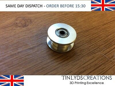 3D Printer GT2 Idler Pulley, Smooth - 3mm Bore for 6mm wide belt