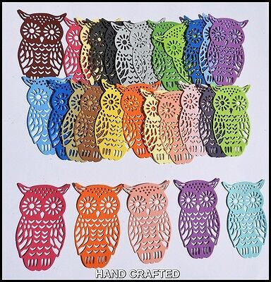 Owl Die Cuts X 15,boys,card Making,embellishments,album Baby,girls,animals,birds