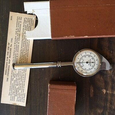 Map measurer Vintage Swissmade best working condition, cover, collectors